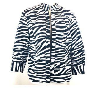 Chico's Zebra linen-look blazer
